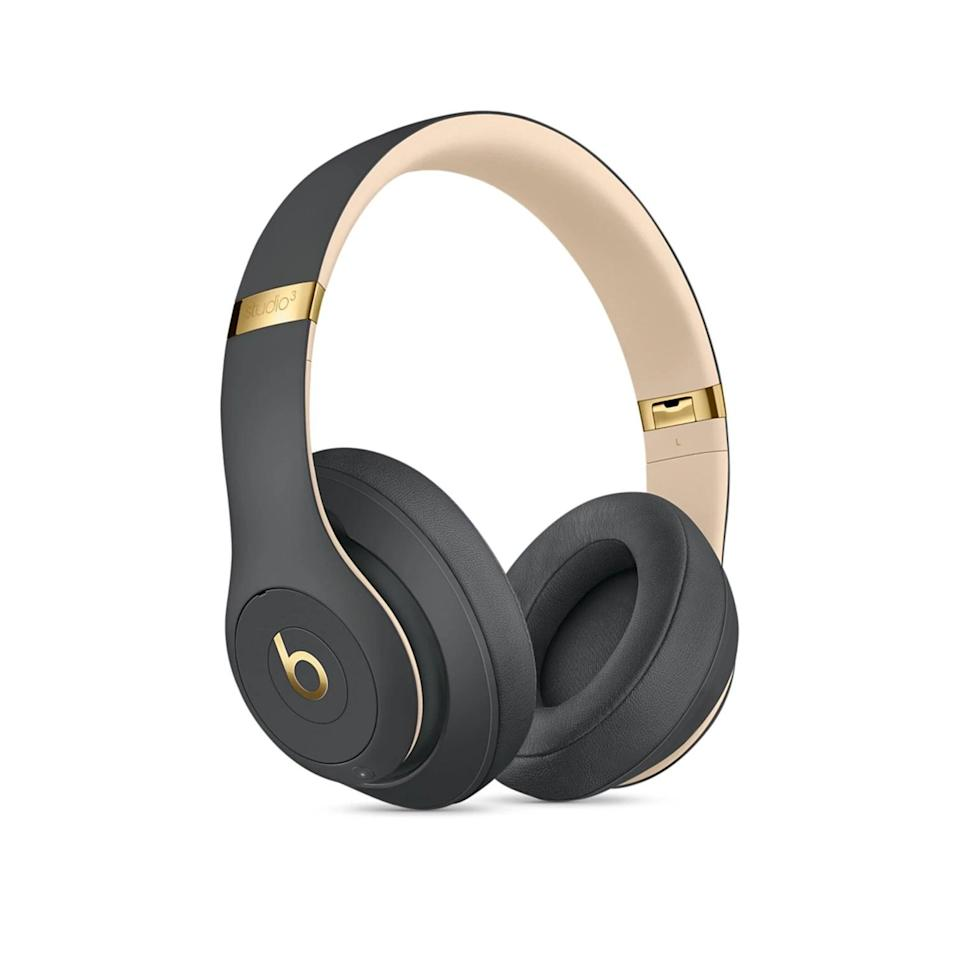 <p>With pure active noise canceling and stylish colorways, the <span>Beats Studio3 Wireless Over-Ear Noise Canceling Headphones</span> ($350) are worth the hype. They have up to 22 hours of battery with active noise canceling or up to 40 hours without it. If they charge them for just 10 minutes, they can get around three hours of listening time. They can even take calls, control music, and activate Siri all throughout the headphones with multifunction on-ear controls.</p>