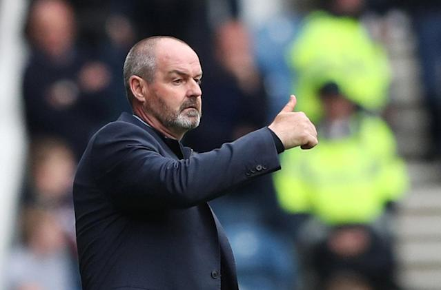 Soccer Football - Scottish Premiership - Rangers vs Kilmarnock - Ibrox, Glasgow, Britain - May 5, 2018 Kilmarnock manager Steve Clarke REUTERS/Scott Heppell