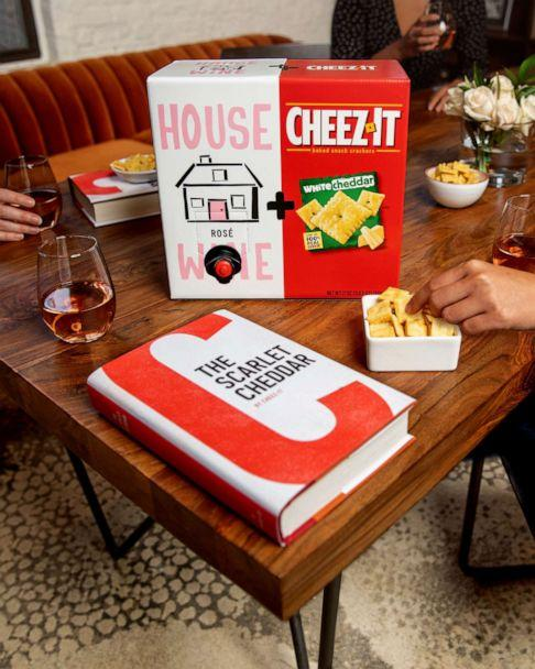 PHOTO: Limited-edition boxes of House Wine rosé and Cheez-It white cheddar are perfect for virtual book club nights. (Cheez-It )
