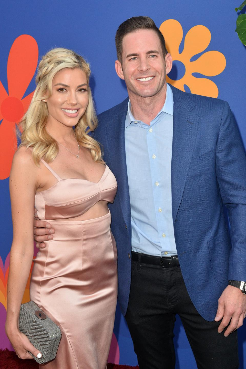 NORTH HOLLYWOOD, CALIFORNIA - SEPTEMBER 05: Heather Rae Young and Tarek El Moussa attend the Premiere of HGTV's 'A Very Brady Renovation' at The Garland Hotel on September 05, 2019 in North Hollywood, California. (Photo by Jerod Harris/FilmMagic)