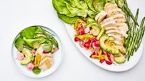 "<a href=""https://www.bonappetit.com/recipe/spring-chicken-salad-with-smashed-green-beans?mbid=synd_yahoo_rss"" rel=""nofollow noopener"" target=""_blank"" data-ylk=""slk:See recipe."" class=""link rapid-noclick-resp"">See recipe.</a>"