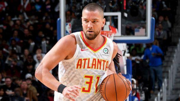 PHOTO: Chandler Parsons, #31 of the Atlanta Hawks, drives to the basket against the Detroit Pistons, Nov. 22, 2019, at Little Caesars Arena in Detroit. (Chris Schwegler/NBAE via Getty Images, FILE)