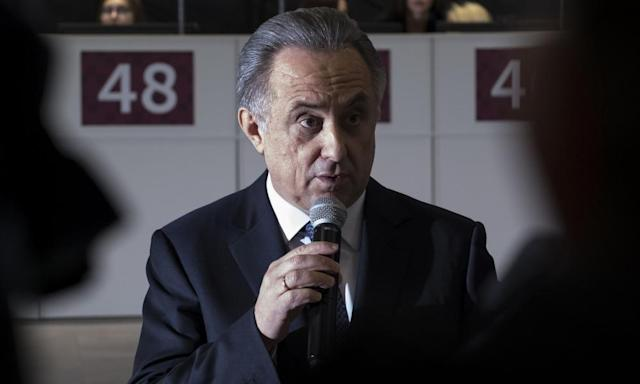 """<span class=""""element-image__caption"""">Vitaly Mutko, the president of the Russian football association and the organising committee for the World Cup, has been banned from the Olympic Games by the IOC.</span> <span class=""""element-image__credit"""">Photograph: Mladen Antonov/AFP/Getty Images</span>"""