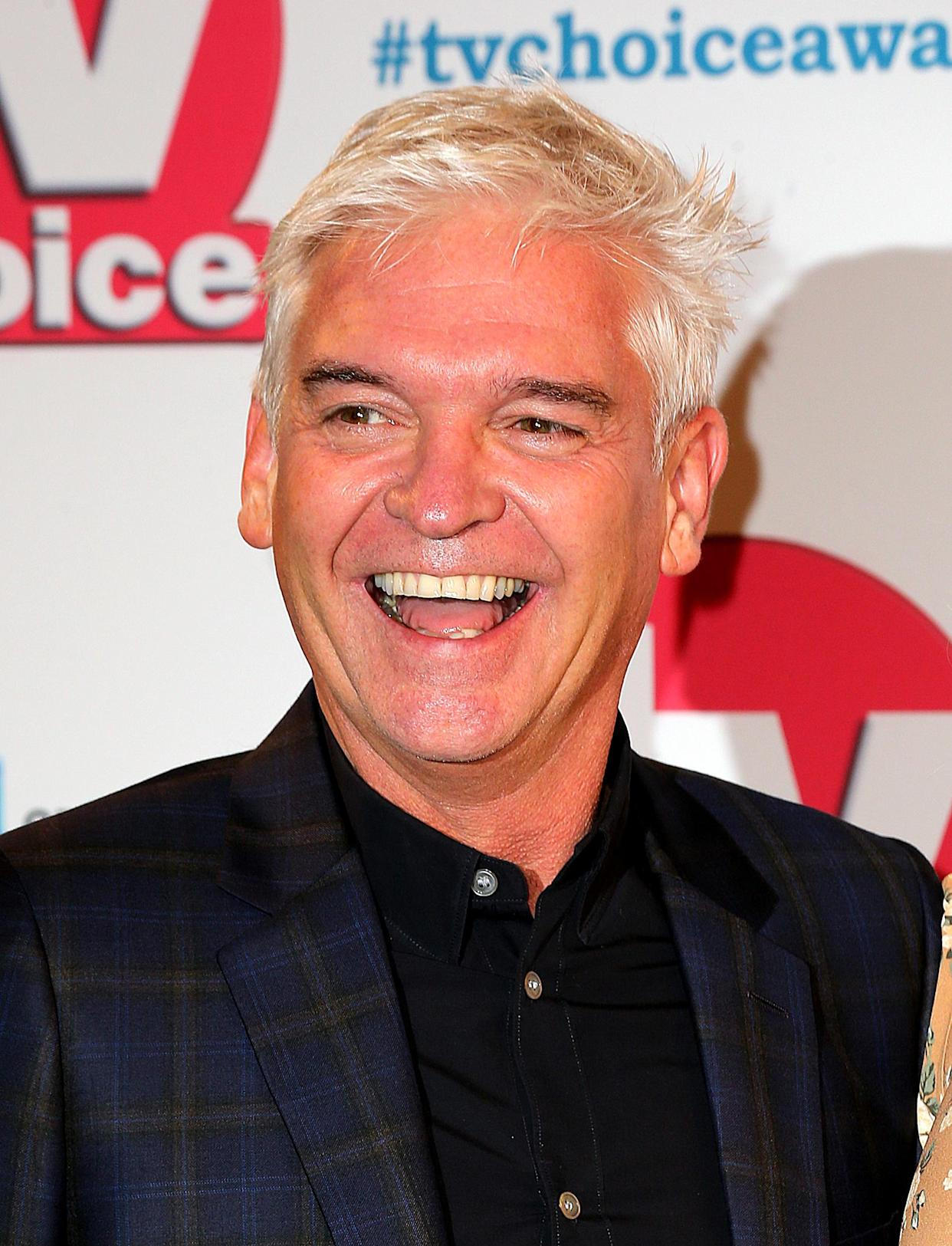 Phillip Schofield attending the TV Choice Awards held at the Hilton Hotel, Park Lane, London