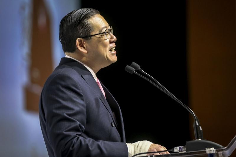 Finance Minister Lim Guan Eng said Pakatan Harapan has managed to boost government funds by seven times in four months. — Picture by Hari Anggara