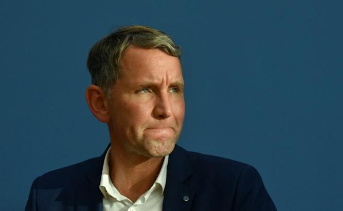 Bjoern Hoecke has become a top protagonist for the Alternative for Germany (AfD) far-right party since regional elections (AFP Photo/John MACDOUGALL)