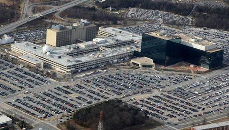FILE PHOTO: An aerial view of the National Security Agency (NSA) headquarters in Fort Meade, Maryland, U.S. January 29, 2010. REUTERS/Larry Downing/File Photo