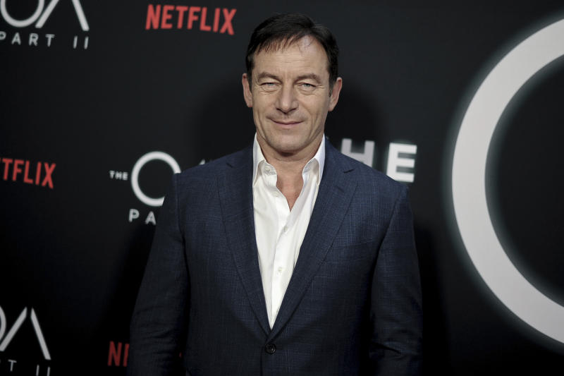 """Jason Isaacs attends the LA premiere of """"The OA"""" Season 2 at the Los Angeles County Museum of Art on Tuesday, March 19, 2019, in Los Angeles. (Photo by Richard Shotwell/Invision/AP)"""