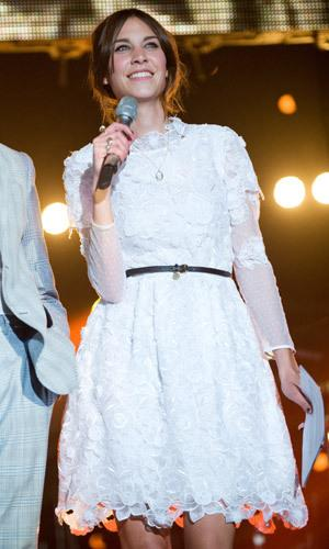 Alexa Chung hosts the Orange RockCorps Concert on July 12, 2011 at Wembley Arena in London, England.