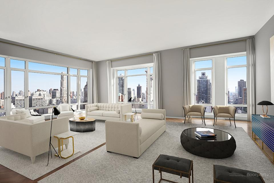 A 520 Park Avenue condo is pictured. Photo credit: Compass.