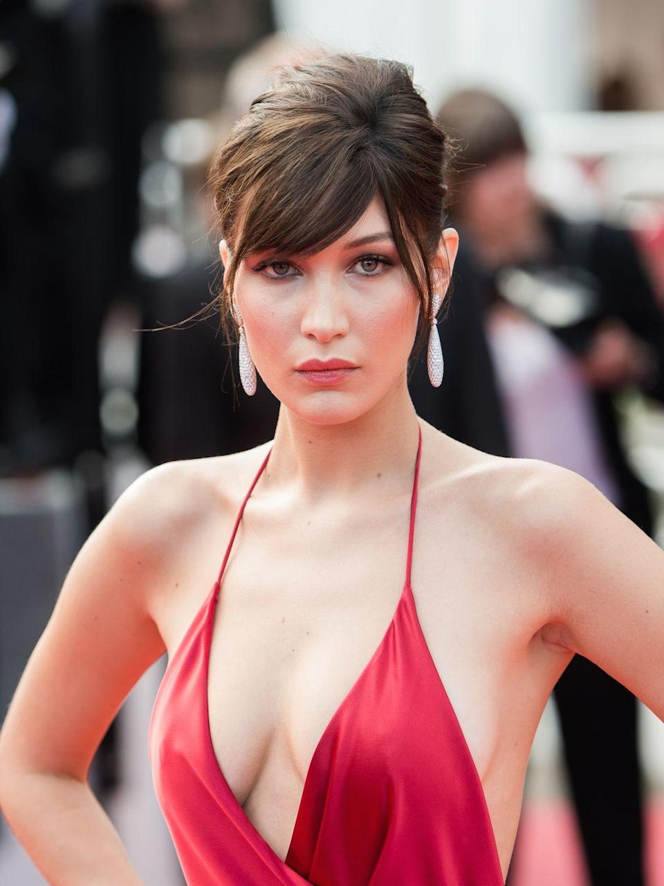 <p>Bella's side-swept fringe is a convenient way to try the style without really committing to it. This fringe will be long enough to tuck behind her ear in a couple of weeks. </p>