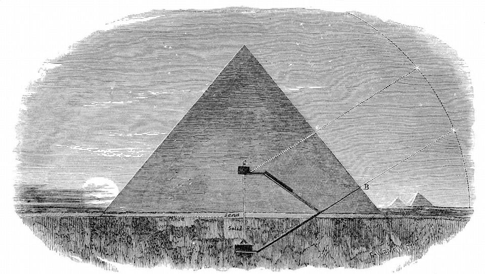 """<p>Pharaoh Khufu's pyramid has <a href=""""https://www.nationalgeographic.com/history/archaeology/giza-pyramids/"""" rel=""""nofollow noopener"""" target=""""_blank"""" data-ylk=""""slk:two burial chambers"""" class=""""link rapid-noclick-resp"""">two burial chambers</a>–a large one for himself, which is preceded by a grand gallery, and a smaller one beneath his for the queen.</p>"""