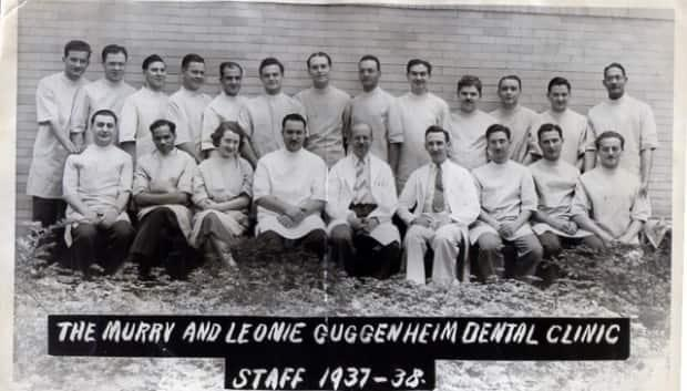 After the Nazi regime barred Jewish Germans from the country's universities, Elsbeth Heisheimer travelled to the United States to complete her dental studies. Pictured in the bottom row, third from the left, she went on to work at the Guggenheim Clinic in New York City as the only woman on staff.