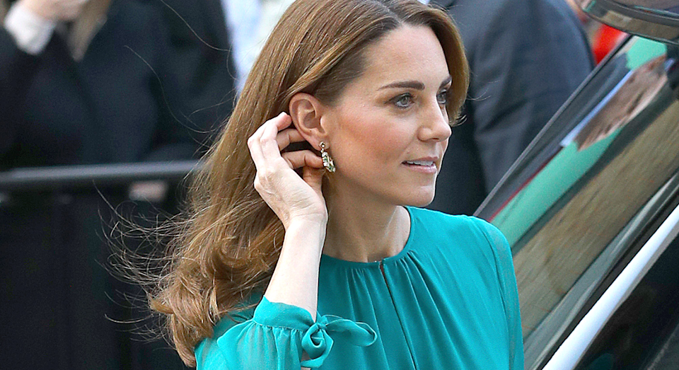 Kate Middleton arrived to meet Aga Khan in London. [Photo: Getty]