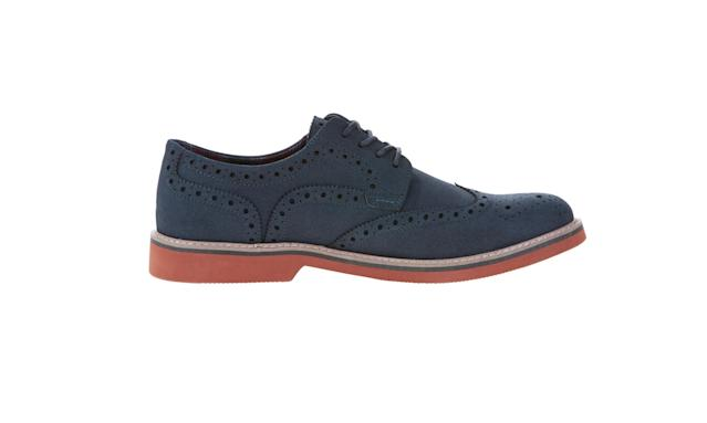 "<p>Men's Wingtip Shoe, $26, <a href=""https://www.walmart.com/ip/George-Men-s-Wingtip-Shoe/649439762"" rel=""nofollow noopener"" target=""_blank"" data-ylk=""slk:walmart.com"" class=""link rapid-noclick-resp"">walmart.com</a> </p>"