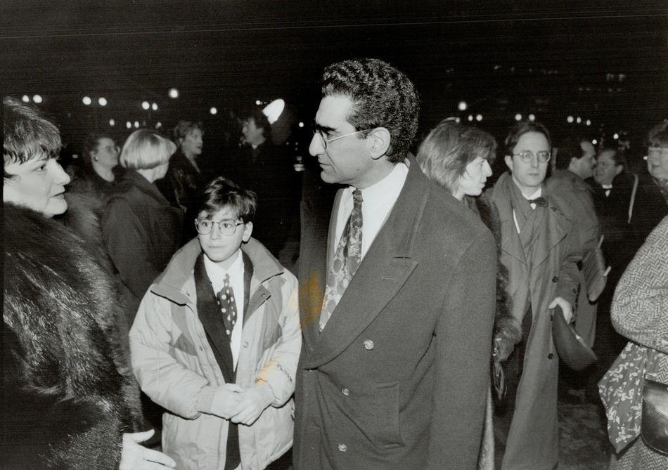 Eugene and Dan Levy in Canada on Jan. 4, 1994.