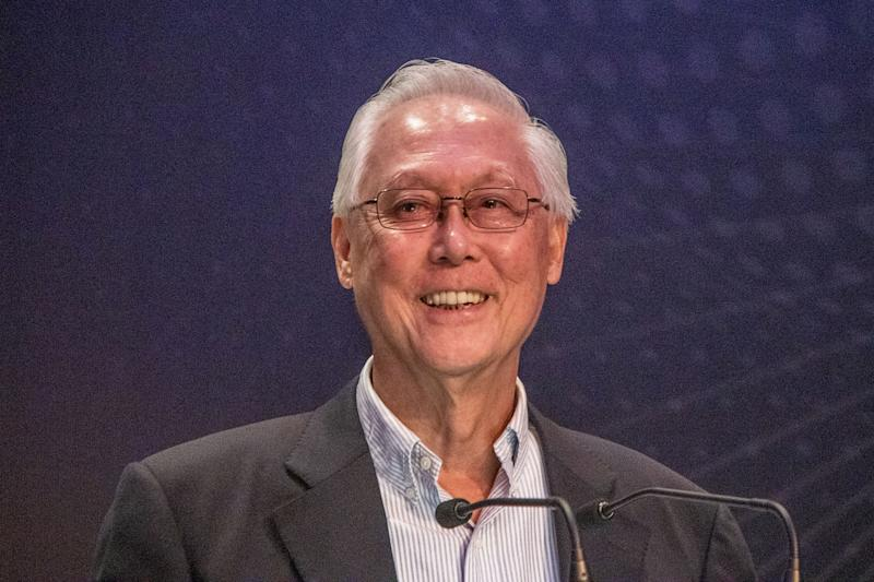 Emeritus Senior Minister Goh Chok Tong speaks at the Chiam See Tong Sports Fund gala dinner on 22 August 2019. (PHOTO: Dhany Osman / Yahoo News Singapore)