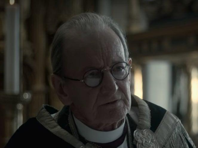 Ronald Pickup as the Archbishop of Canterbury in 'The Crown' season oneNetflix