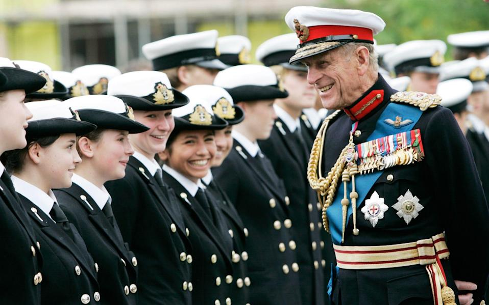 The Duke may have asked for the hymn to be sung out of respect for the Royal Navy - GETTY IMAGES