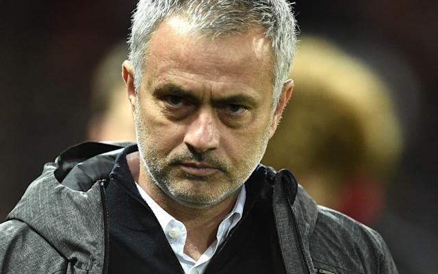 <span>Mourinho's depleted squad have a hectic April schedule</span> <span>Credit: AFP </span>