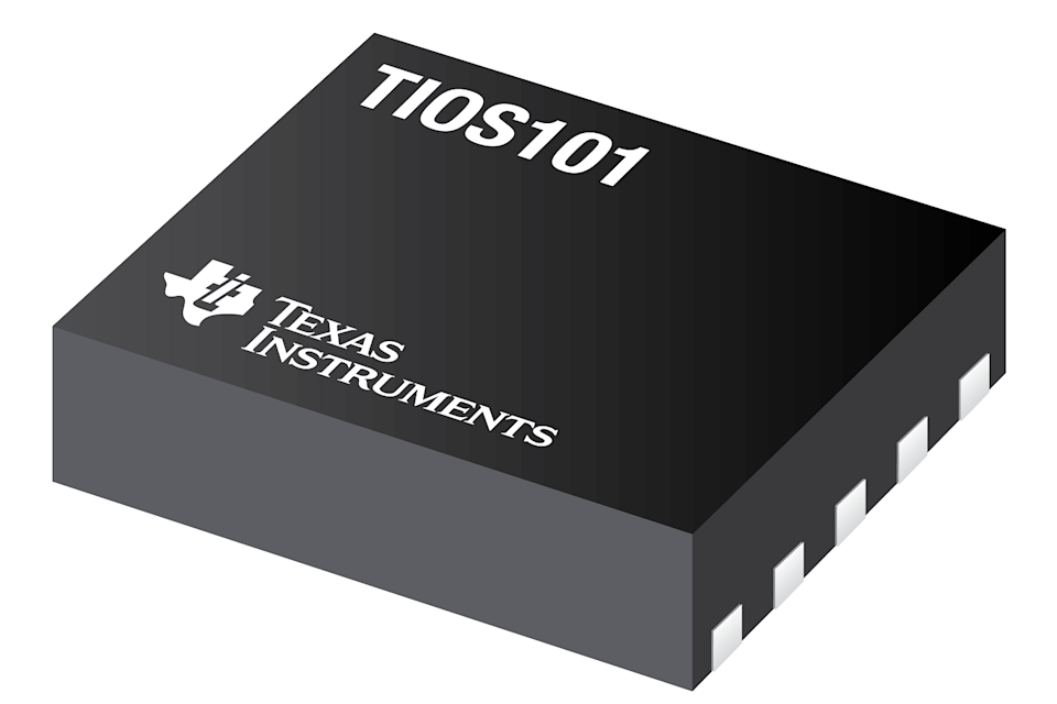 A Texas Instruments semiconductor chip