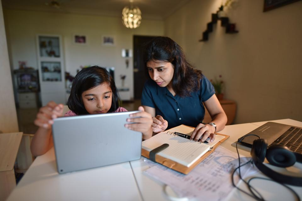 Despite some schools reopening, distance learning will still be the reality for many students in the coming months. (Photo: Mayur Kakade via Getty Images)