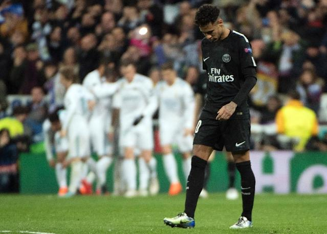 Neymar had his moments but it was a frustrating night on the whole for PSG's Brazilian superstar in Madrid (AFP Photo/CURTO DE LA TORRE)