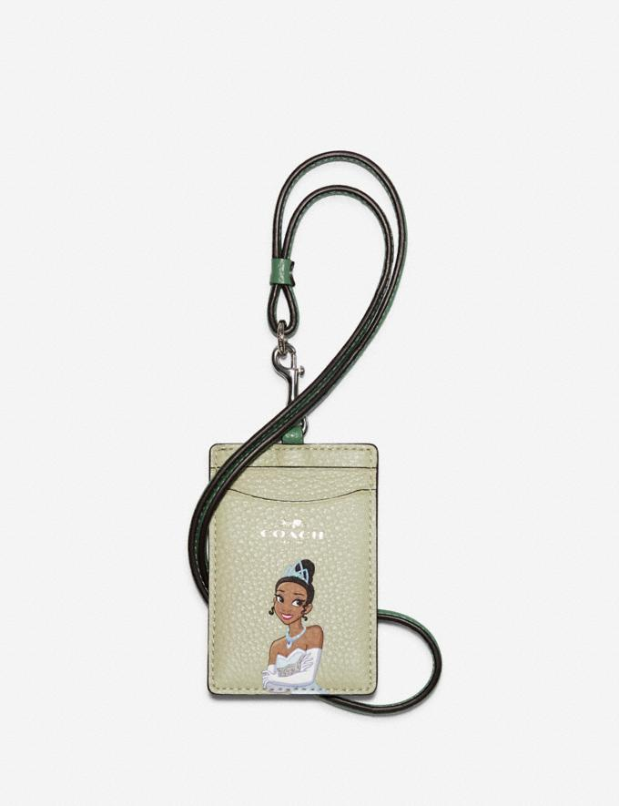 Disney X Coach Id Lanyard With Tiana. Image via Coach Outlet.