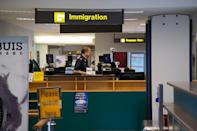 <p>The Immigration counter at the current Seletar Airport passenger terminal. (PHOTO: Yahoo News Singapore / Dhany Osman) </p>