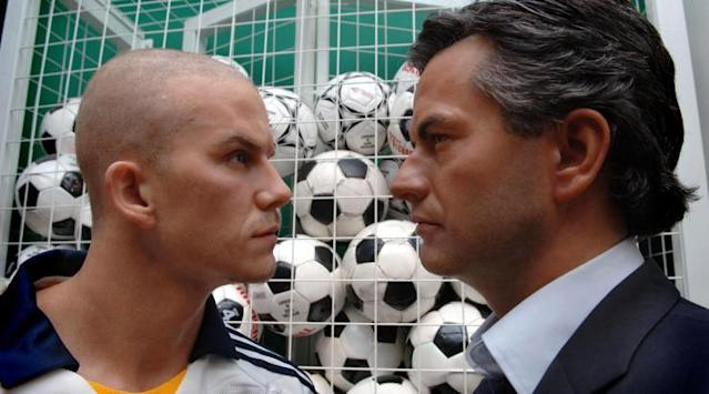 <p>Dreamboats Beckham and Mourinho face-off, cause each other to melt, etc. </p>