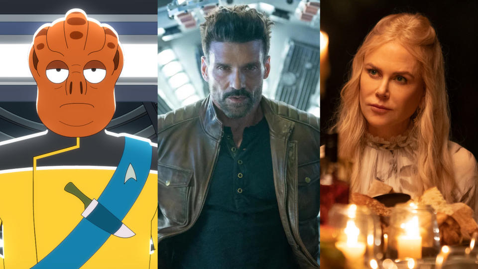 'Star Trek: Lower Decks', 'Boss Level' and 'Nine Perfect Strangers' are all coming to Amazon Prime Video UK in August 2021. (Amazon/Hulu)