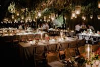 For the dinner, we imagined a poetic and leafy scene. We respected the French tradition where every guest has a defined seat. We had a lot of fun matching people together. We even created new couples!