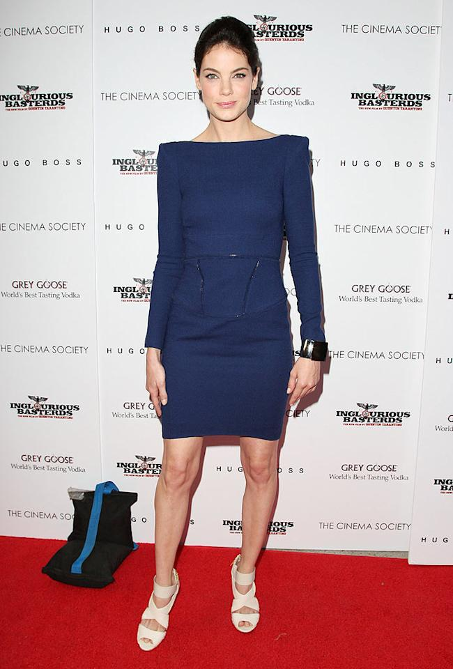 """Also in attendance ... """"Eagle Eye"""" star Michelle Monaghan, who paired a structured navy Rachel Roy dress with a chunky cuff and Manolo Blahnik strappy sandals. Jason Kempin/<a href=""""http://www.gettyimages.com/"""" target=""""new"""">GettyImages.com</a> - August 17, 2009"""