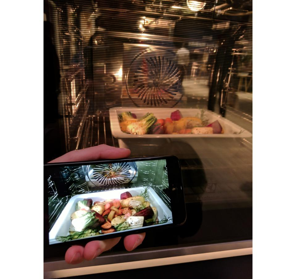 Electrolux's camera-equipped oven lets look in on your latest culinary masterpiece while you watch Netflix on your couch.
