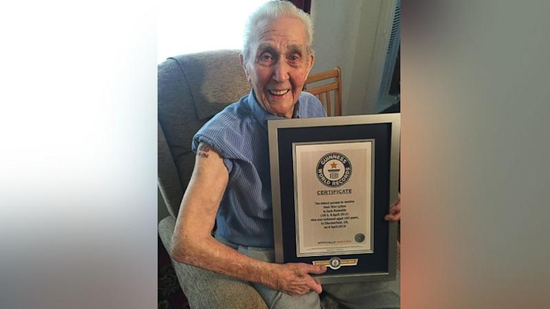 104-Year-Old Great-Grandpa World's Oldest Person to Receive First Tattoo