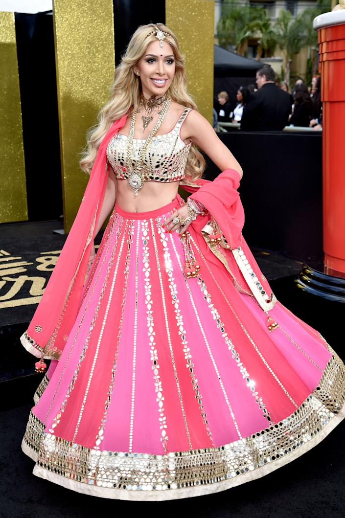TV personality Farrah Abraham attends the 2017 MTV Movie And TV Awards at The Shrine Auditorium on May 7, 2017 in Los Angeles, California.