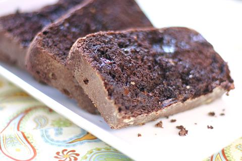 """<div class=""""caption-credit""""> Photo by: Brooke McLay</div><div class=""""caption-title"""">Double Chocolate Quick Bread</div><i><b>Make double chocolate quick bread</b></i> <br> <i>Ingredients: <br></i> 1 1/2 cups miniature semisweet chocolate chips <br> 1/2 cup butter <br> 2/3 cup brown sugar <br> 2 eggs <br> 1-1/2 cups applesauce <br> 2 teaspoons vanilla extract <br> 2-1/2 cups all-purpose flour <br> 1 teaspoon baking powder <br> 1 teaspoon baking soda <br> 1 teaspoon salt <p>   <i>Directions:</i>   <br>   Melt 1 cup of the chocolate chips in a microwave-safe bowl by zapping in your microwave for about 60 seconds. In a large bowl, beat the butter and brown sugar until extremely creamy. Add eggs and melted chocolate then mix together with the butter and sugar mixture. Stir in the applesauce and vanilla. Add the flour, baking powder, baking soda and salt; then stir in the remaining chocolate chips. Spoon your batter into four 5-3/4-in. x 3-in. x 2-in. loaf pans which have been coated with nonstick baking spray. Bake at 350° for 35-40 minutes or until a toothpick inserted near the center comes out clean. </p>"""