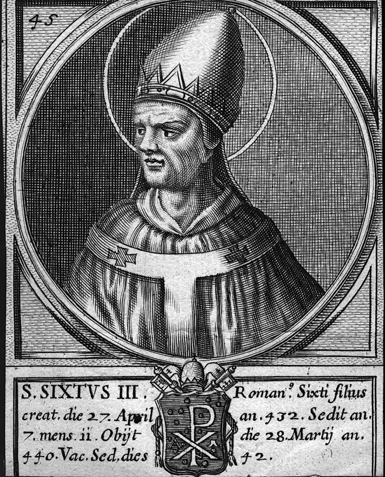 Circa 430 AD, Pope Sixtus III (? - 440). (Photo by Hulton Archive/Getty Images)