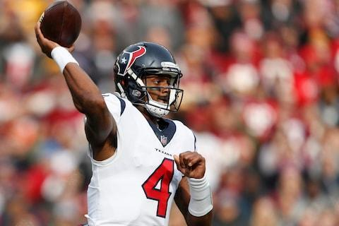 <span>Deshaun Watson has thrown just two interceptions in his last six games</span> <span>Credit: AP Photo/Pablo Martinez Monsivais </span>