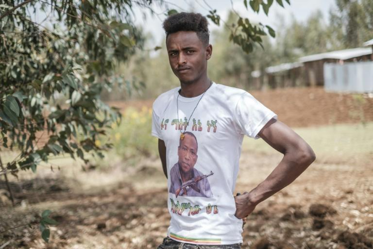 Asaminew, emblazoned on Sisay's T-shirt, is an icon of Amhara nationalism