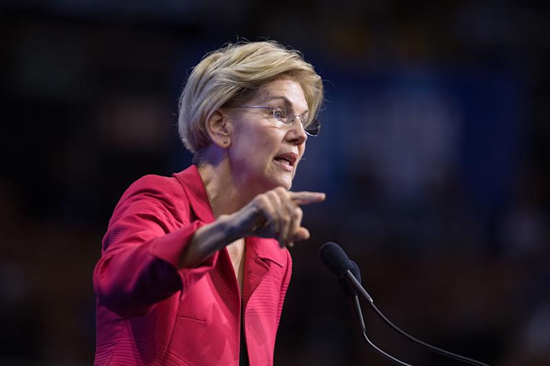 Democratic presidential candidate, Sen. Elizabeth Warren (D-MA) speaks during the New Hampshire Democratic Party Convention at the SNHU Arena on Sept. 7, 2019 in Manchester, New Hampshire. (Photo: Scott Eisen/Getty Images)