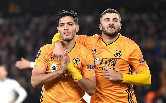 Raul Jimenez scored a late winner to help Wolves defeat Slovan Bratislava - Getty Images Europe
