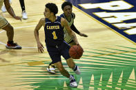 Carver College forward Antwon Ferrell in action during the first half of an NCAA college basketball game against Florida International Monday, Dec. 21, 2020, in Miami. (AP Photo/Gaston De Cardenas)