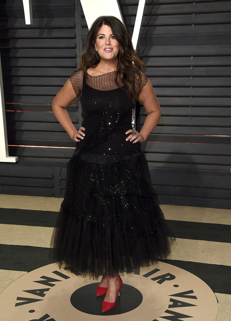 <p>Monica Lewinsky arrives at the Vanity Fair Oscar Party on Sunday, Feb. 26, 2017, in Beverly Hills, Calif. (Photo by Evan Agostini/Invision/AP) </p>