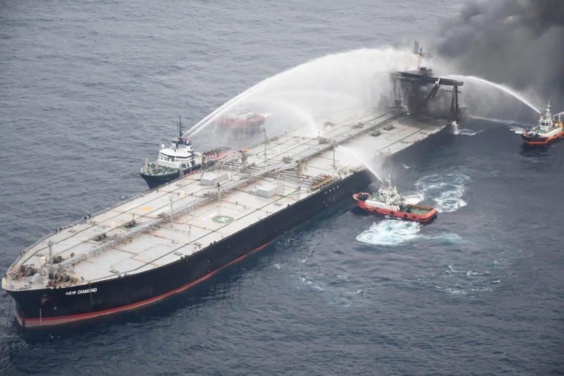 Sri Lanka Ship Fire