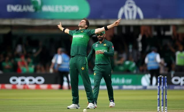 Shaheen Afridi last competed in England during the 2019 World Cup (Tim Goode/PA)
