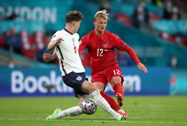 Stones made his 48th appearance for England against Denmark on Wednesday night