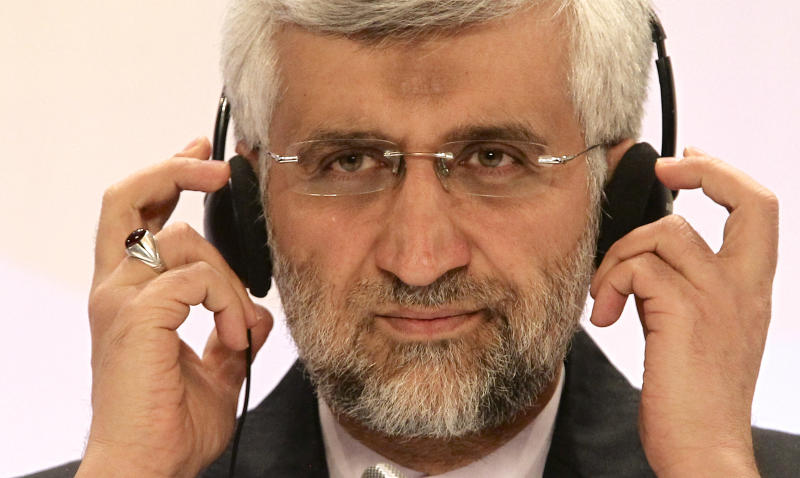 "Iran's Supreme National Security Council Secretary and chief nuclear negotiator Saeed Jalili listens to a question during a final news conference in Almaty, Kazakhstan, Wednesday, Feb. 27, 2013. Negotiations with world powers over how to curb Iran's nuclear program have reached a ""turning point"" for the better after nearly breaking down last year, the Islamic republic's top official at diplomatic talks said Wednesday at the close of two days of delicate discussions aimed at preventing Tehran from building an atomic arsenal. (AP Photo/Pavel Mikheyev)"