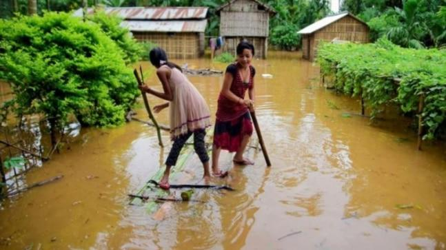 Heavy monsoon rains in Assam displaced more than a million people from their homes and flash floods killed at least 10 in the past 72 hours, state authorities said on Saturday, warning the situation could worsen in coming days.