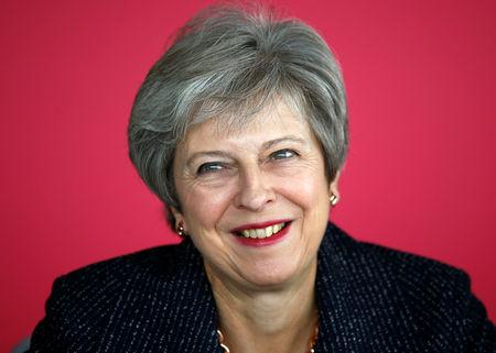 Britain's Prime Minister Theresa May attends a roundtable meeting with business leaders, whose companies are inaugural signatories of the Race at Work Charter, at the Southbank Centre in London